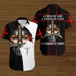 A child of God a woman of faith a warrior of Christ Knight Christian Jesus ALL OVER PRINTED SHIRTS DH061703