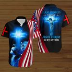 I am proud to say Jesus Christ is my Savior American Flag ALL OVER PRINTED SHIRTS DH090304