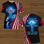 Jesus is the way the truth the life VOICE_TV AFRICA ALL OVER PRINTED SHIRTS
