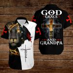 God grace and Grandpa ALL OVER PRINTED SHIRTS hoodie 3d