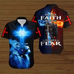 Let your faith be bigger than your fear Knight blue lion Christian ALL OVER PRINTED SHIRTS DH090403