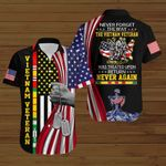 Never forget the way the VietNam veteran was treated upon return never again US Flag ALL OVER PRINTED SHIRTS DH090405