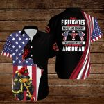 I am a Firefighter I believe in God Family and Country I will salute my flag I am a proud American Flag Jesus Christ ALL OVER PRINTED SHIRTS DH090508