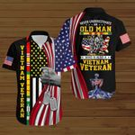 Never underestimate an old man who is also a VietNam veteran US Flag ALL OVER PRINTED SHIRTS DH090505