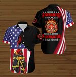 Being a Firefighter is a choice being a retired Firefighter is an honor American Flag Jesus Christ ALL OVER PRINTED SHIRTS DH090504