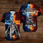 December Guy The devil saw me until I said Amen fire Knight ALL OVER PRINTED SHIRTS DH090612