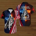 I can do all things through Christ who strengthens me American Flag fire Knight ALL OVER PRINTED SHIRTS DH090707