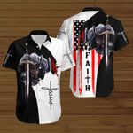 Faith American Flag Knight Christian Jesus Christ ALL OVER PRINTED SHIRTS DH090704