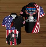 No longer in Uniform but still serving God and Country U.S.Veteran American Flag Jesus Christ ALL OVER PRINTED SHIRTS DH090702