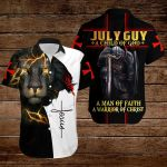 July guy A child of God A man of Faith A warrior of Christ ALL OVER PRINTED SHIRTS hoodie 3d