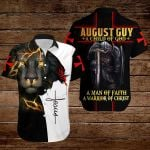 August guy A child of God A man of Faith A warrior of Christ ALL OVER PRINTED SHIRTS hoodie 3d