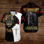 October guy A child of God A man of Faith A warrior of Christ ALL OVER PRINTED SHIRTS hoodie 3d