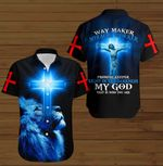 Way maker miracle worker my God that is who you are Jesus Christ blue lion ALL OVER PRINTED SHIRTS DH090803