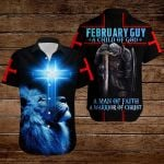February Guy A Child of God a man of faith a warrior of Chirst knight blue lion ALL OVER PRINTED SHIRTS DH090902
