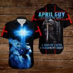 April Guy A Child of God a man of faith a warrior of Chirst knight blue lion ALL OVER PRINTED SHIRTS DH090904