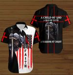 A Child of God a man of faith a warrior of Chirst faith Knight Jesus ALL OVER PRINTED SHIRTS DH090913