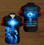 Way property of truth Jesus Chirst Lord Savior blue lion ALL OVER PRINTED SHIRTS DH091001