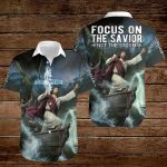 Focus on the savior not the storm  ALL OVER PRINTED SHIRTS 3d