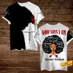 God says I am Jasmie William ALL OVER PRINTED SHIRTS 3d