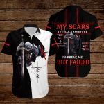 My scars tell a story to break me but failed ALL OVER PRINTED SHIRTS 3d