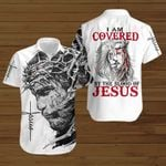I am covered by the blood of Jesus Christ ALL OVER PRINTED SHIRTS DH091204