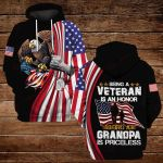Being a veteran is an honor Being a grandpa is priceless ALL OVER PRINTED SHIRTS 3d