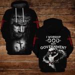 I worship God no government ALL OVER PRINTED SHIRTS 3d