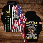 I am an army veteran I love freedom ALL OVER PRINTED SHIRTS
