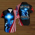 My God's not dead He's surely alive He's livin' on the inside roarin' like a lion ALL OVER PRINTED SHIRTS DH091605
