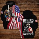 Heros are made by the paths they chooes Not the powers they are graced with ALL OVER PRINTED SHIRTS