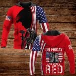 On friday we wear red ALL OVER PRINTED SHIRTS