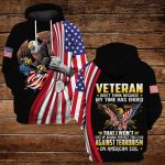 Veteran don't think because my time has ended ALL OVER PRINTED SHIRTS DH091906