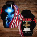 Jesus is the reason for the season blue lion ALL OVER PRINTED SHIRTS DH092304