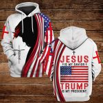 Jesus is my savior Trump is my president ALL OVER PRINTED SHIRTS