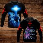 This girl runs on Jesus and cats ALL OVER PRINTED SHIRTS