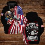 Honor the sacrifice remember the service ALL OVER PRINTED SHIRTS DH092406