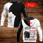 I am a son of God I was born in November personalized name ALL OVER PRINTED SHIRTS