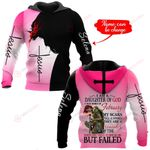 I am a daughter of God I was born in February personalized name ALL OVER PRINTED SHIRTS