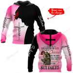 I am a daughter of God I was born in October personalized name ALL OVER PRINTED SHIRTS