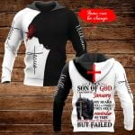 I am a son of God I was born in January personalized name ALL OVER PRINTED SHIRTS