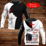 I am a son of God I was born in April personalized name ALL OVER PRINTED SHIRTS
