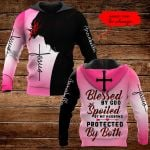 Blessed by God Spoiled by my husband protected by both Personalized name ALL OVER PRINTED SHIRTS DH092803