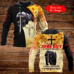 June Guy A child of God A man of Faith A warrior of Christ personalized name ALL OVER PRINTED SHIRTS