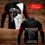 September Guy A Child of God Personalized name ALL OVER PRINTED SHIRTS DH092909