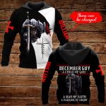 December Guy A Child of God Personalized name ALL OVER PRINTED SHIRTS DH092912