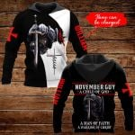 November Guy A Child of God Personalized name ALL OVER PRINTED SHIRTS DH092911