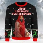 Knitting Pattern Print Ugly Christmas ALL OVER PRINTED Sweatshirt Jesus is the reason for the season DH092919