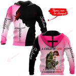 A child of God A woman of Faith A warrior of Christ personalized name ALL OVER PRINTED SHIRTS