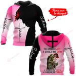 December Lady A child of God A woman of Christ personalized name ALL OVER PRINTED SHIRTS
