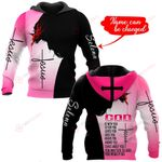 God is with you personalized name ALL OVER PRINTED SHIRTS